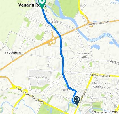 Via Pianezza 61, Torino to Viale Roma 1, Venaria Reale