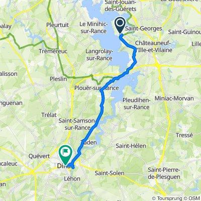 De 16 Route du Puits, Saint-Suliac à Rue du Marchix, Dinan