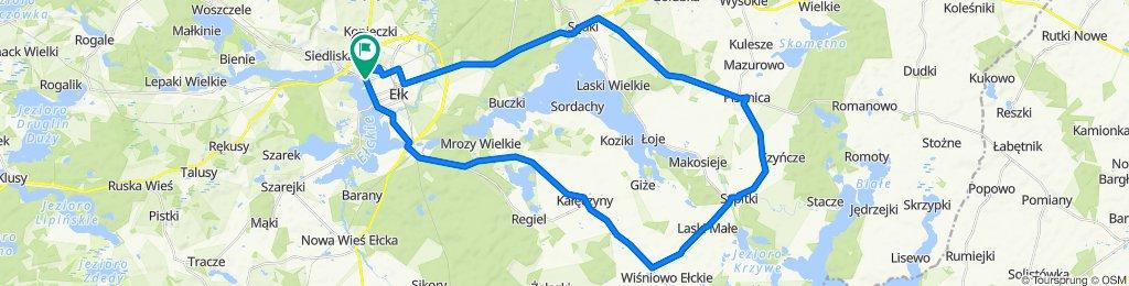 Route from Juliana Tuwima 4/3, Ełk