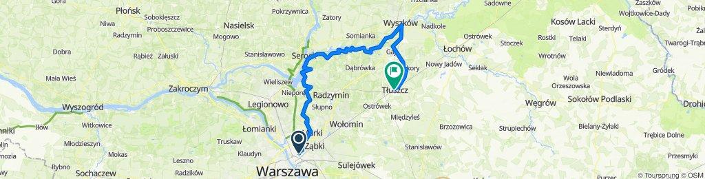 Warszawa - Wyszków - Tłuszcz. Wzdłuż Bugu.