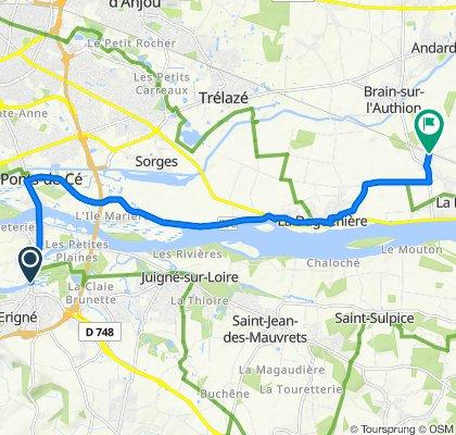 De 22 Rue Maurice Berné, Mûrs-Erigné à Impasse de la Gare, La Bohalle