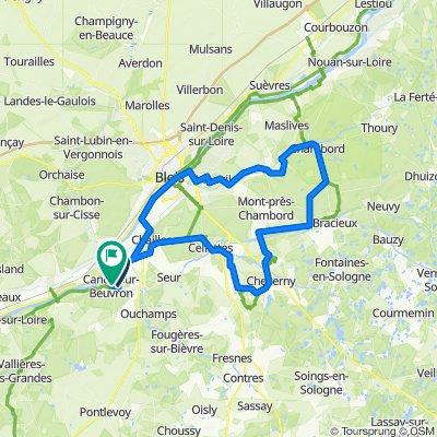 De Route des Montils 36, Candé-sur-Beuvron à Rue des Ficaudières 2, Candé-sur-Beuvron