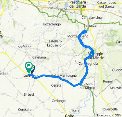 Da Via Colli Storici 16, Guidizzolo a Via San Luigi Gonzaga 63, Guidizzolo