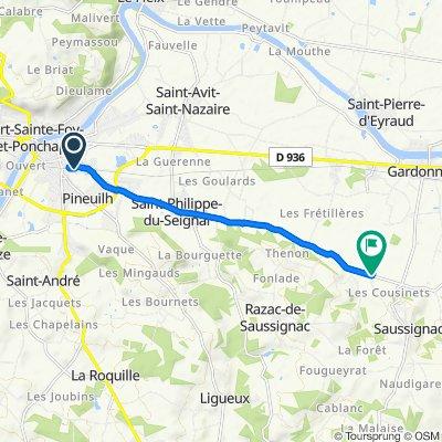 Itinéraire vers Haut du Bois Nord, Saussignac