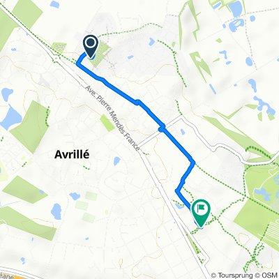 De 8 Avenue Pierre Poivre, Avrillé à 18 Avenue Maurice Mailfert, Avrillé