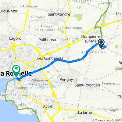 De 25 Rue Jean-Pierre Pigot, Dompierre-sur-Mer à Quai de la Georgette, La Rochelle