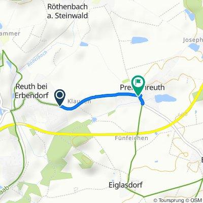 Premenreuther Straße, Reuth bei Erbendorf nach Reuther Straße 1, Reuth bei Erbendorf