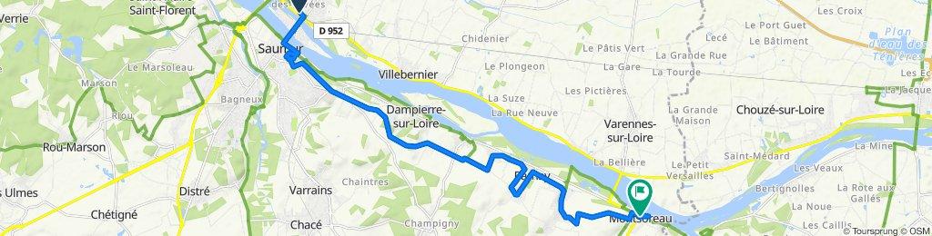 De La Gare, Saumur à 12 Place du Mail, Montsoreau