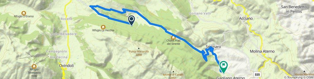 Gagliano Aterno - Fonte Canale via veduta - Fonte Anatella (parte 2) e ritorno