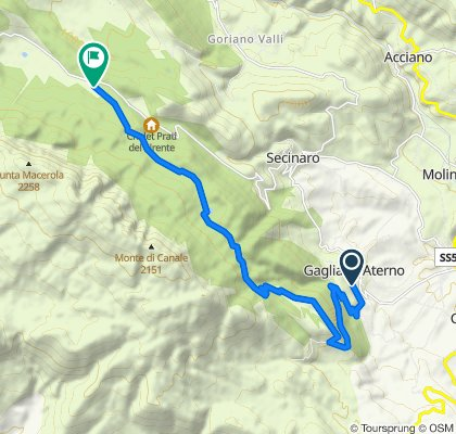 Gagliano Aterno - Fonte Canale via veduta - Fonte Anatella (parte 1)