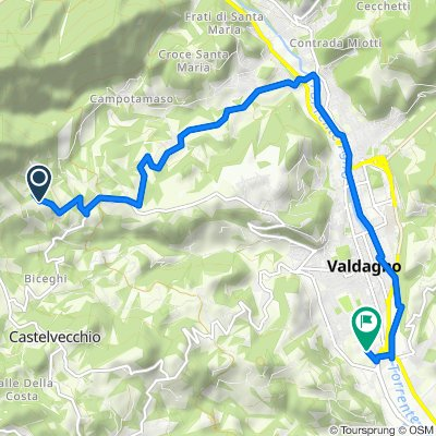 Da Contrada Pozza 13, Valdagno a Località Campagna 26, Valdagno