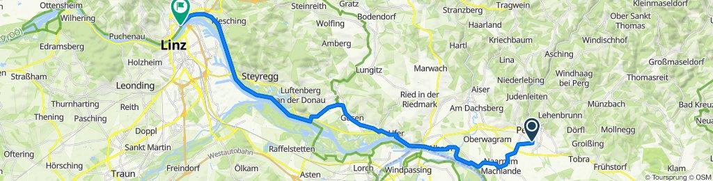 Perg Schulzentrum Bahnhst (Busterminal) nach Linke Brückenstraße 2s, Linz