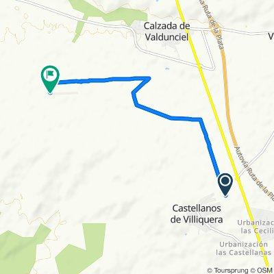 Ruta a Camino a Castellanos de Villiquera, Calzada de Valdunciel