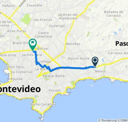 De Avenida Italia 5033, Montevideo a Antonio Machado 2075, Montevideo