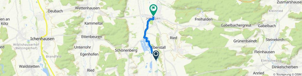 Humprechtsmühle 1, Burtenbach nach Hauptstraße 52, Jettingen-Scheppach