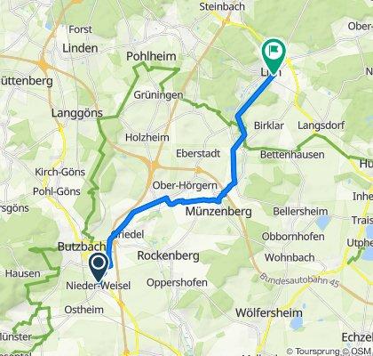 Weizgang 6, Butzbach nach Unterstadt 29, Lich