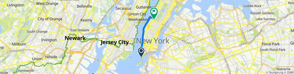 FDR Drive N, New York to 12–92 W 61st St, New York