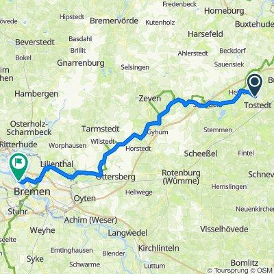Route von Hollenstedter Straße 2, Dohren