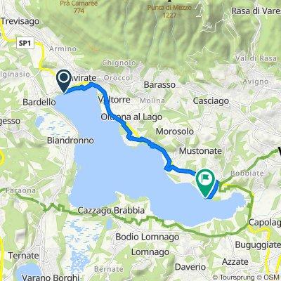 Da Viale Ticino, Gavirate a Via dei Canottieri 21, Varese