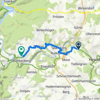 Route nach Flurweg 18, Blankenberg