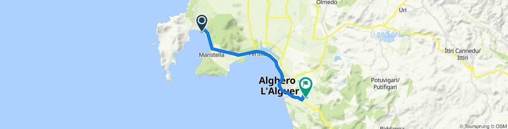 Route from Località Mugoni, Alghero