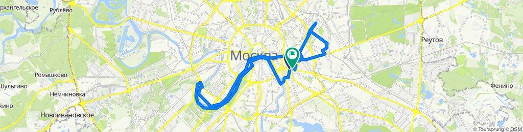 От Большой Факельный переулок, 24с4, Москва до Таганская улица, 38А, Москва