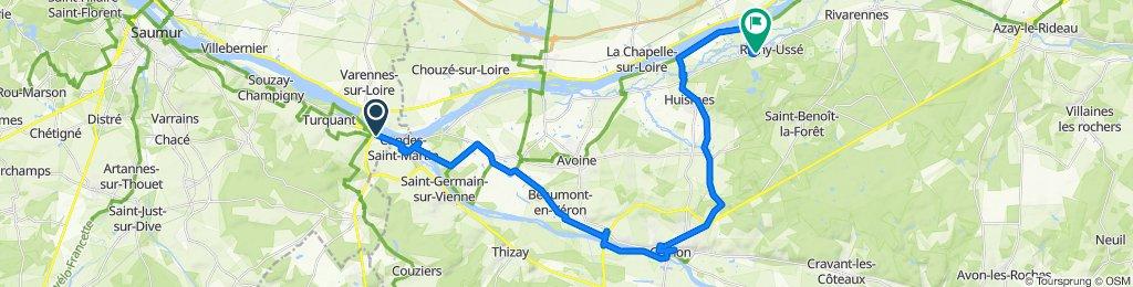 De 8–18 Haute Rue, Montsoreau à 6 Rue Principale, Rigny-Ussé