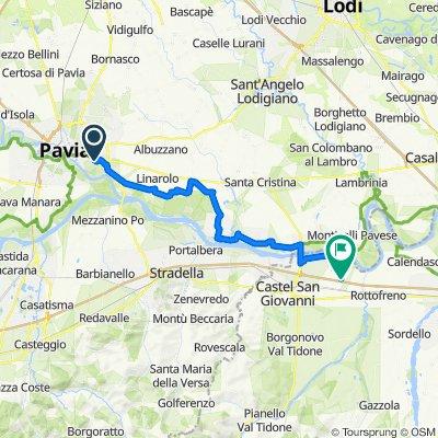 Percorso da Via Francana 42, Pavia