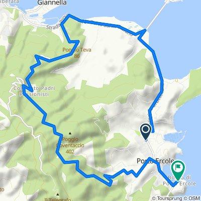 Da Via Ponente 1, Monte Argentario a Strada Provinciale Ercole di Porto 10, Porto Ercole
