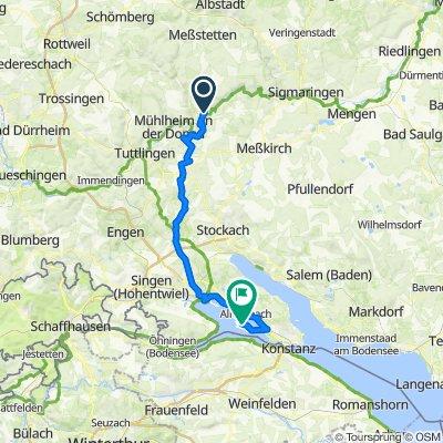 MEINRADWEG - Etappe 2 - Beuron-Reichenau
