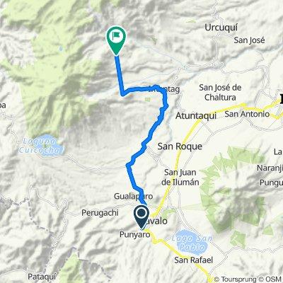 Otavalo, Cotacachi, Imantag, Morlán, Pucalpa.