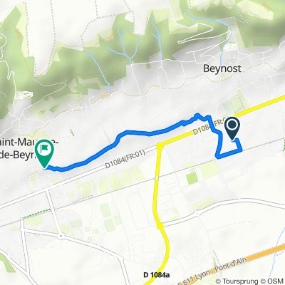 De Impasse des Érables 145, Beynost à Rue des Folliets 6, Saint-Maurice-de-Beynost
