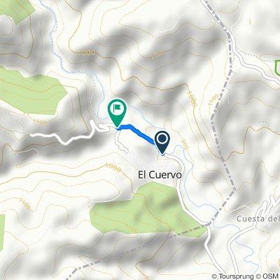 Ruta desde Calle Virgen del Pilar, El Cuervo