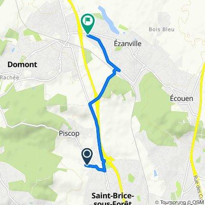 De Rue de la Forêt, Saint-Brice-sous-Forêt à 14 Rue Paul Fort, Ézanville