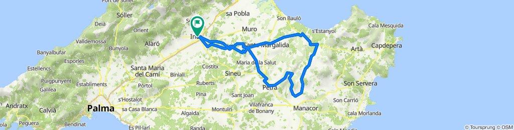 LLUBI-ST.MARGAL-SON SERRA-CTRA.MANACOR-CAMI SA VALL-PETRA-MARIA SALUT-INCA