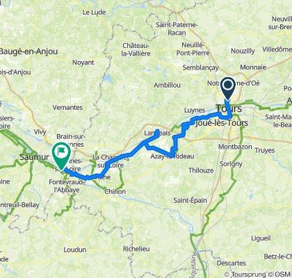 Loire à vélo - Etape 1