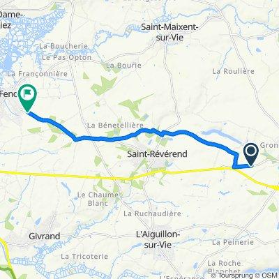 De 1–5 La Garenne, Coëx à 27 Route de Saint-Révérend, Le Fenouiller