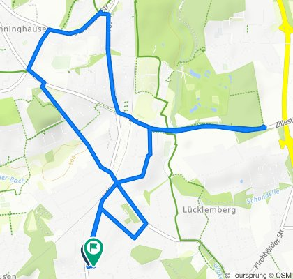 Hagener Straße 242, Dortmund nach Am Flinsbach 4, Dortmund