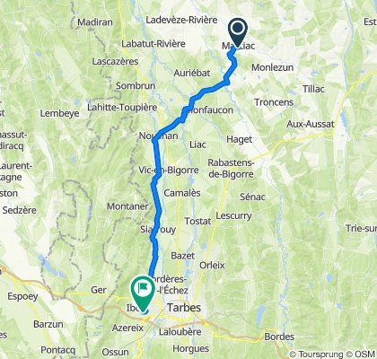 Rue Saint-Justin 23, Marciac to Chemin du Sende, Ibos