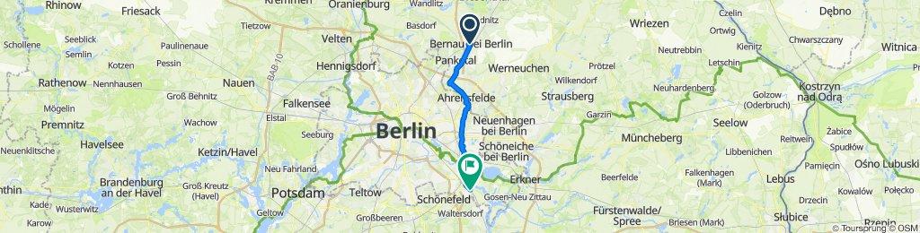 Bernau bei Berlin nach Berlin Grünau
