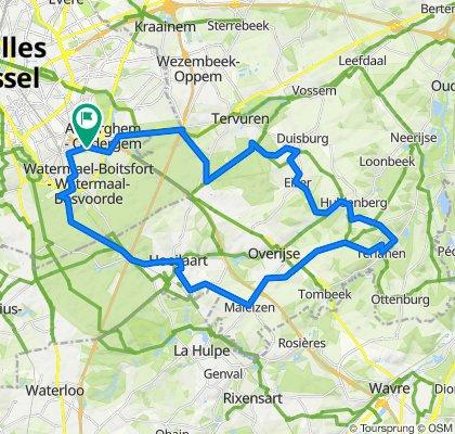 De Avenue des Gerfauts 8, Watermael-Boitsfort à Avenue des Gerfauts 8, Watermael-Boitsfort