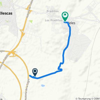 Ruta a Calle Sierra de Gredos, 9, Yeles