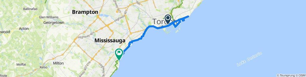 Waterfront Trail, Balmy beach to Mississauga.