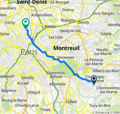 De 1–5 Rue de Neuville, Saint-Maur-des-Fossés à 20 Rue Hermel, Paris