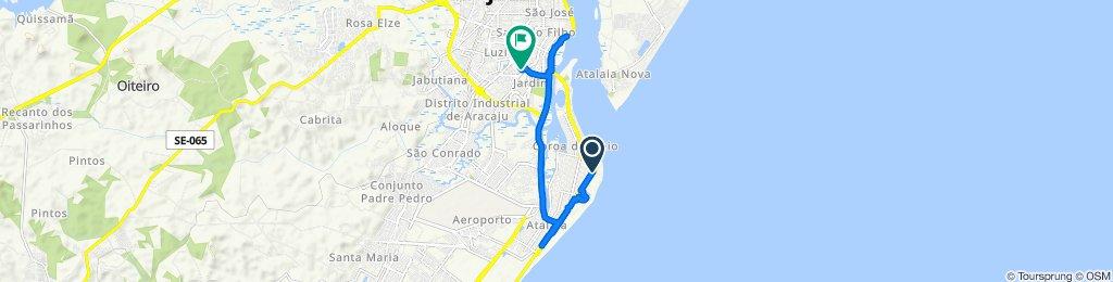 De Avenida Santos Dumont, 3664–3716, Aracaju a Alameda Antônio de Pádua Araújo, 155, Aracaju