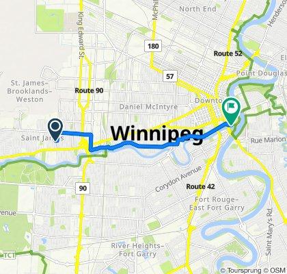 263 Inglewood St, Winnipeg to 1 Forks Market Rd, Winnipeg