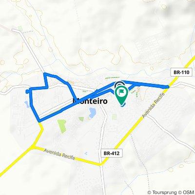 De Rua Sizenando Rafael, 241, Monteiro a Rua Agnaldo Mendes Lima, 119, Monteiro