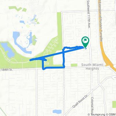 11750 SW 178th Terr, Miami to 11750 SW 178th Terr, Miami