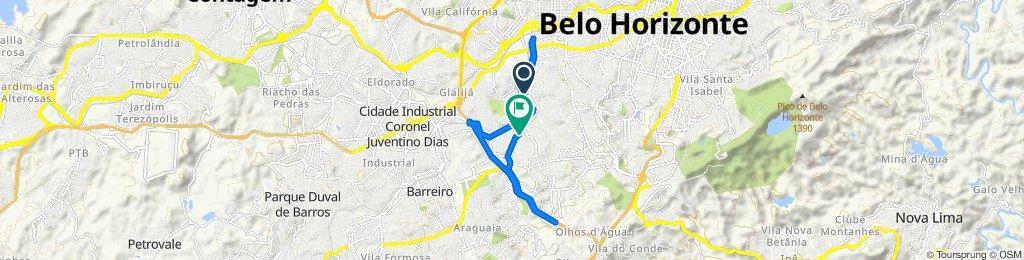De Rua Carmelita Prates da Silva, 1210, Belo Horizonte a Rua Úrsula Paulino, 1276–1308, Belo Horizonte