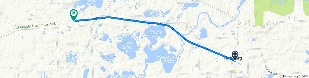 Livingston 10687, Hamburg to Chambers Road 9433, Pinckney